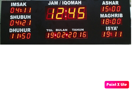 Jam Masjid Digital Tipe New Black