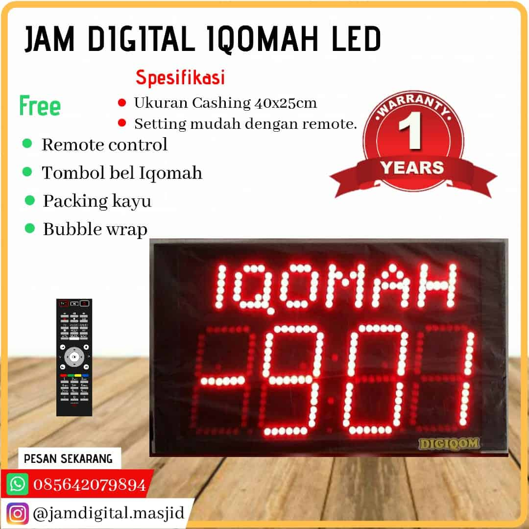 jam masjid digital versi led